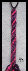 Purple and Pink Yarn Kumihimo by putrescine