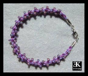 Purple Beaded Kumihimo by putrescine