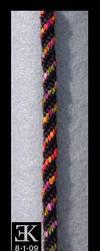 Rainbow Spiral Kumihimo by putrescine