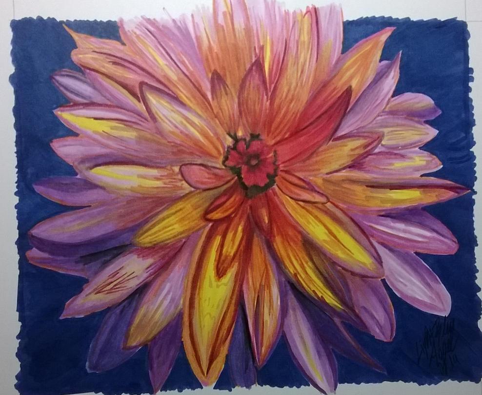 Fantasy Flower by LightBlueAngel