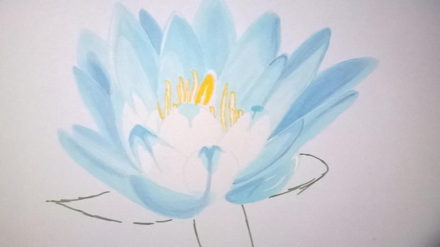 WIP water lily by LightBlueAngel