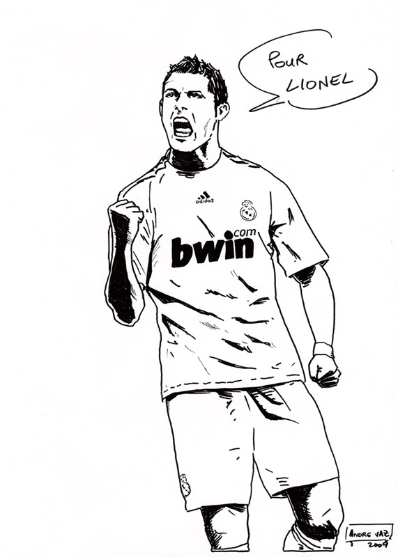 soccer coloring pages ronaldo hair - photo#26