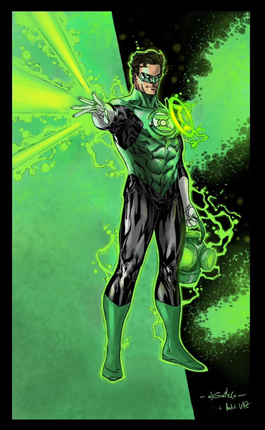 Green Lantern power by Spiderguile - Colors by Andre-VAZ