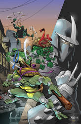 TMNT Cover colors over Ryan Ottley lines