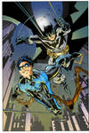 Nightwing and Batman by Scott McDaniel - Colors