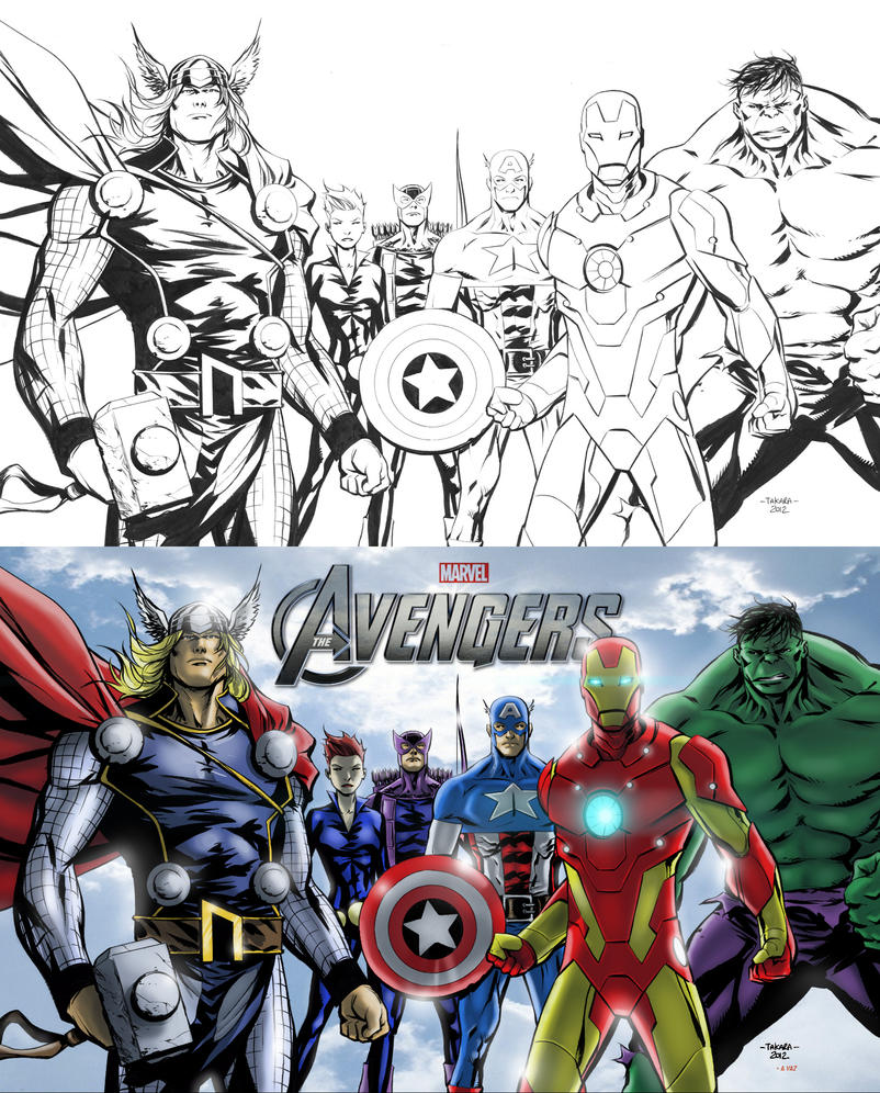 avengers assemble marvel coloring pages - photo#37
