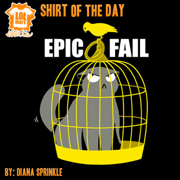 Epic Fail Cat Shirt on Sale by amegoddess