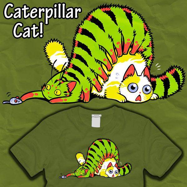 Caterpillar Cat by amegoddess