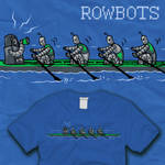 Row of Rowbots Rowing