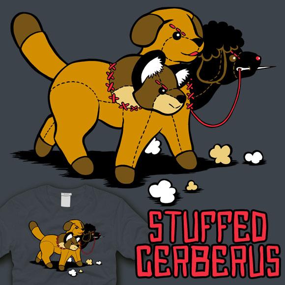 Stuffed Cerberus by amegoddess