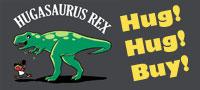 Hugasaurus Rex button by amegoddess
