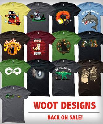 Shirt Woot designs back on sale by amegoddess