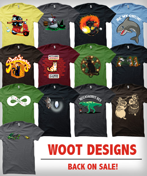 Shirt Woot designs back on sale