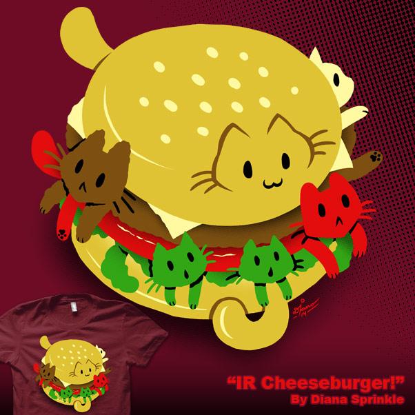 IR Cheeseburger by amegoddess