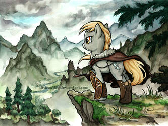 Derpy in Skyrim by dracontiar