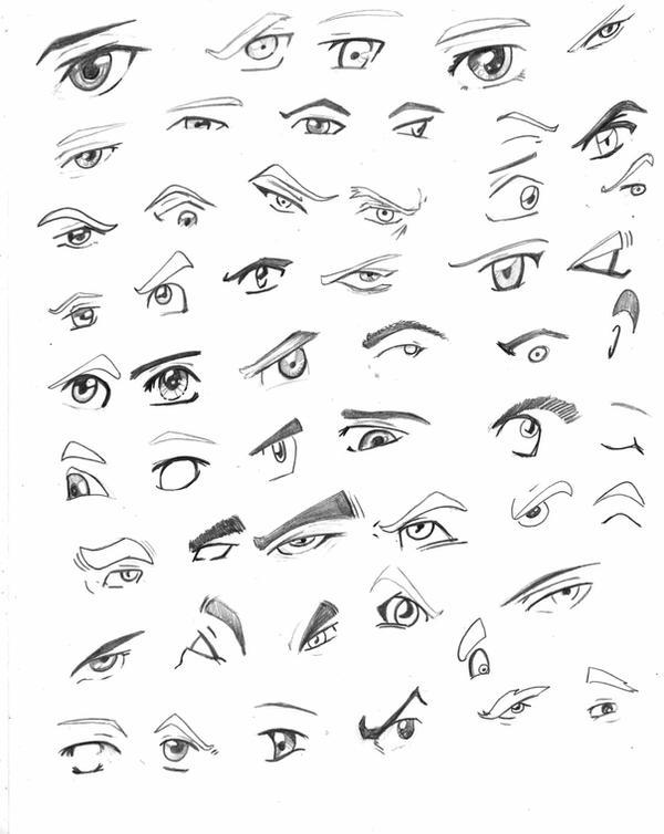 anime ojos hombre: Ojos Anime Hombre
