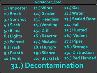 Goretober 2020 prompts