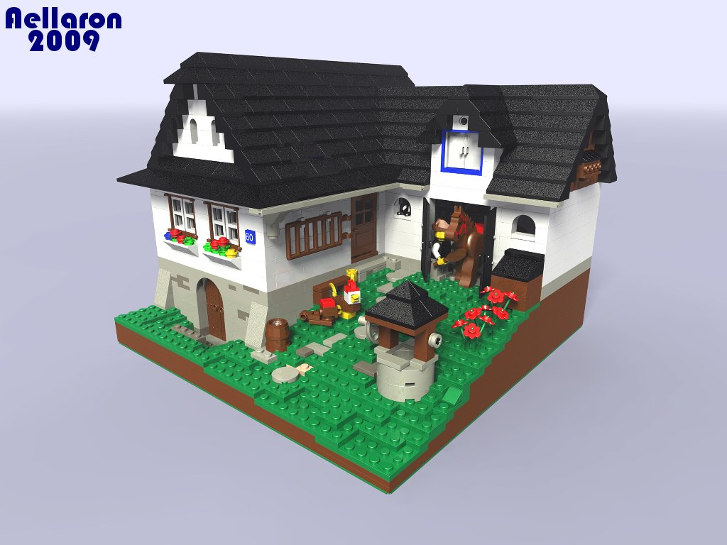 Lego 3d Country House By Aellaron On Deviantart