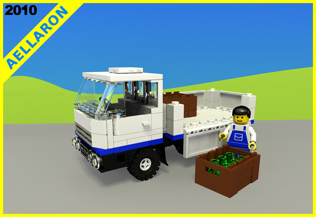 how to make a lego lorry
