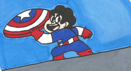 (art Trade) Captain Steven Universe by shawnventura