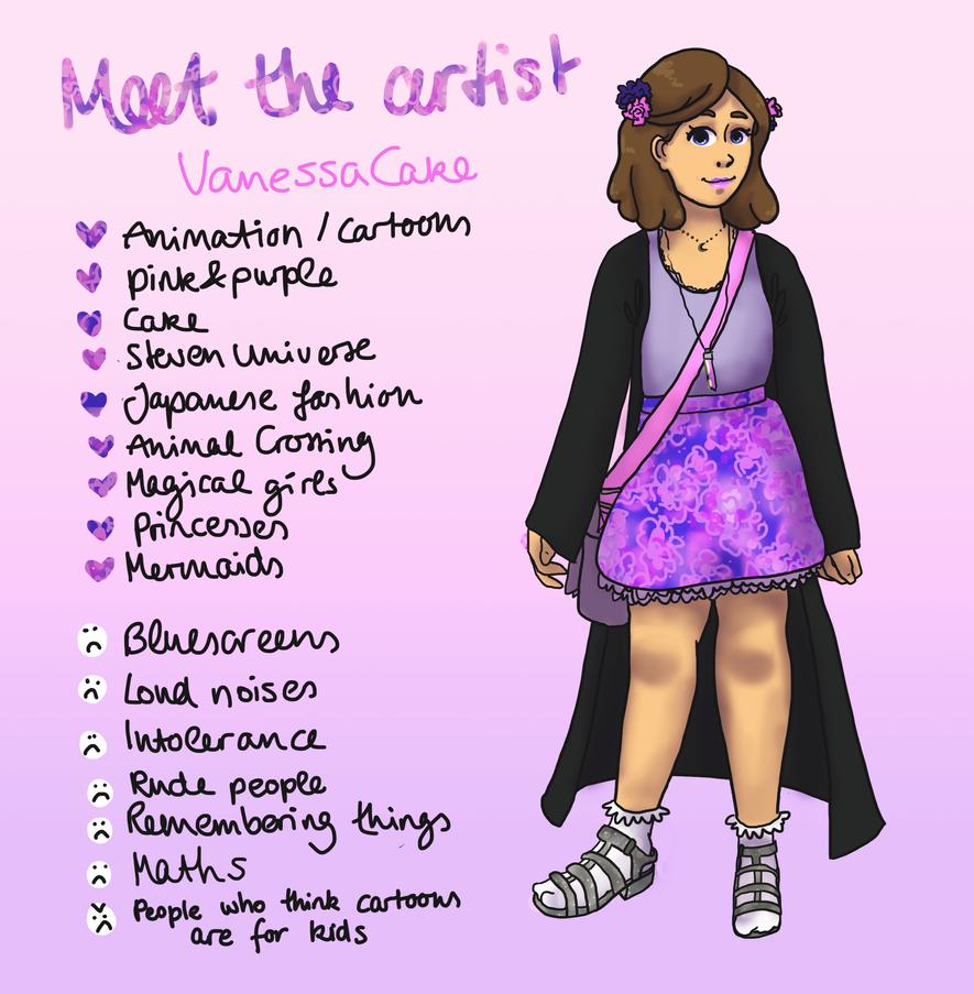 Meet the artist by VanessaCake