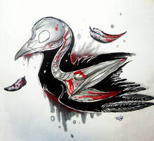 spooky bird  by freezingbreeze42
