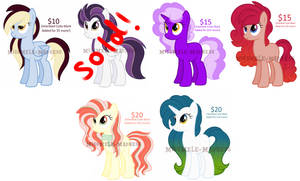 MLP Summer Pony Adoptables by MissMele-Madness