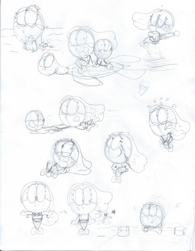 Down Under Sketch Dump 3 by MaxWhittemore