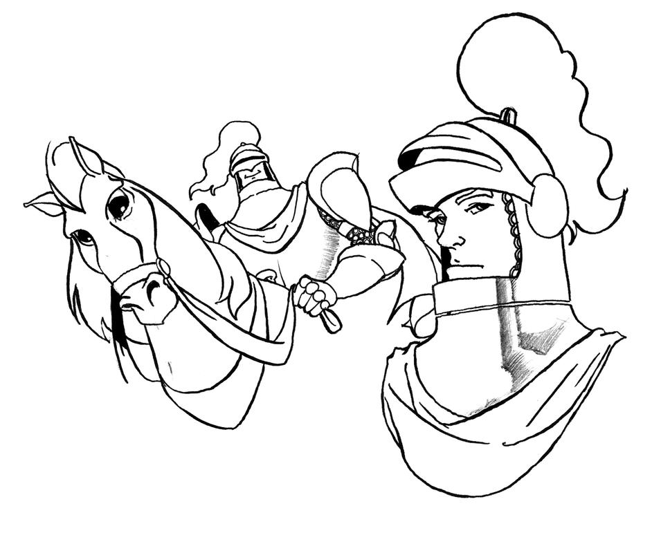 how to draw a knight in shining armour