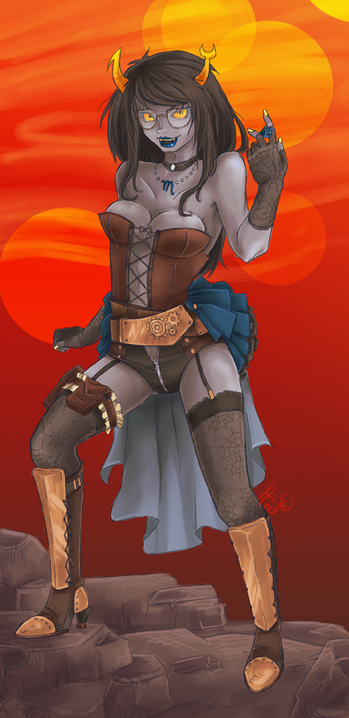 Steampunk Vriska by robotRainbows