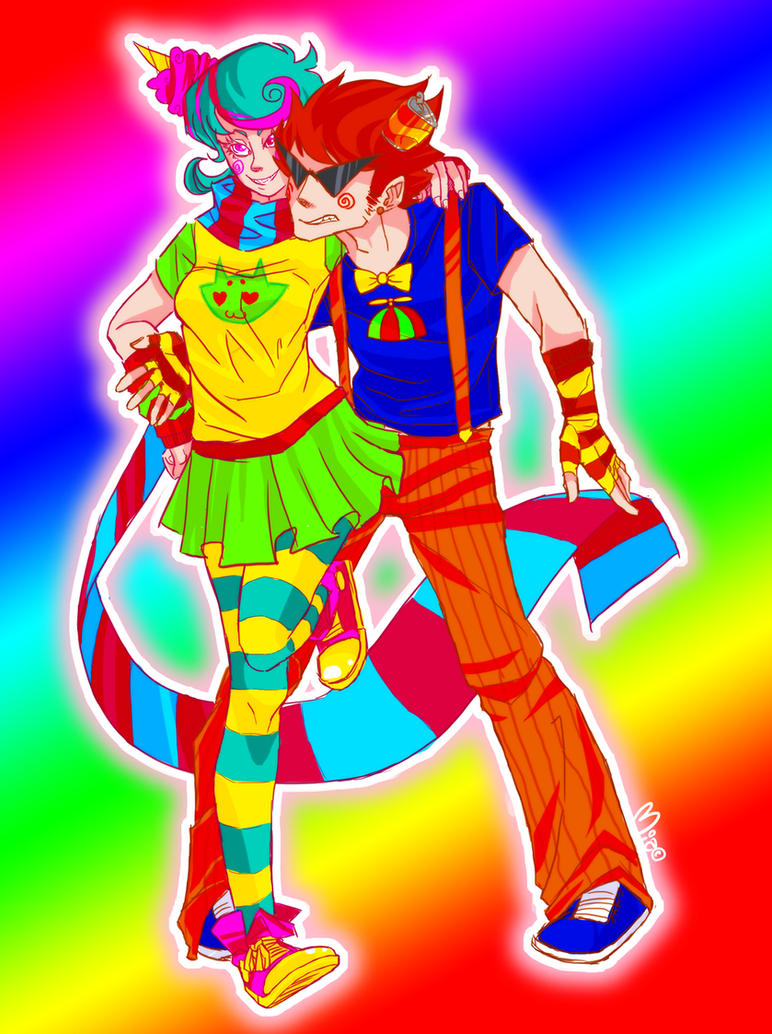 Dirk x Roxy  Trickster mode by robotRainbowsTrickster Roxy And Dirk
