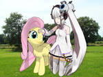 GLaDOS and Fluttershy