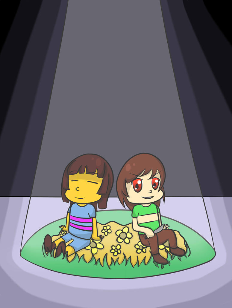 Frisk and Chara by MYSTERYxGIRL