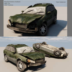 Wrecked Subaru Outback