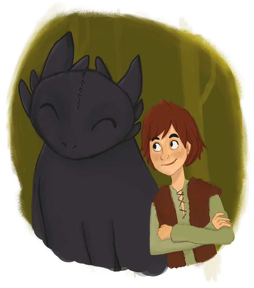 Hiccup and Toothless by IdaRahayu
