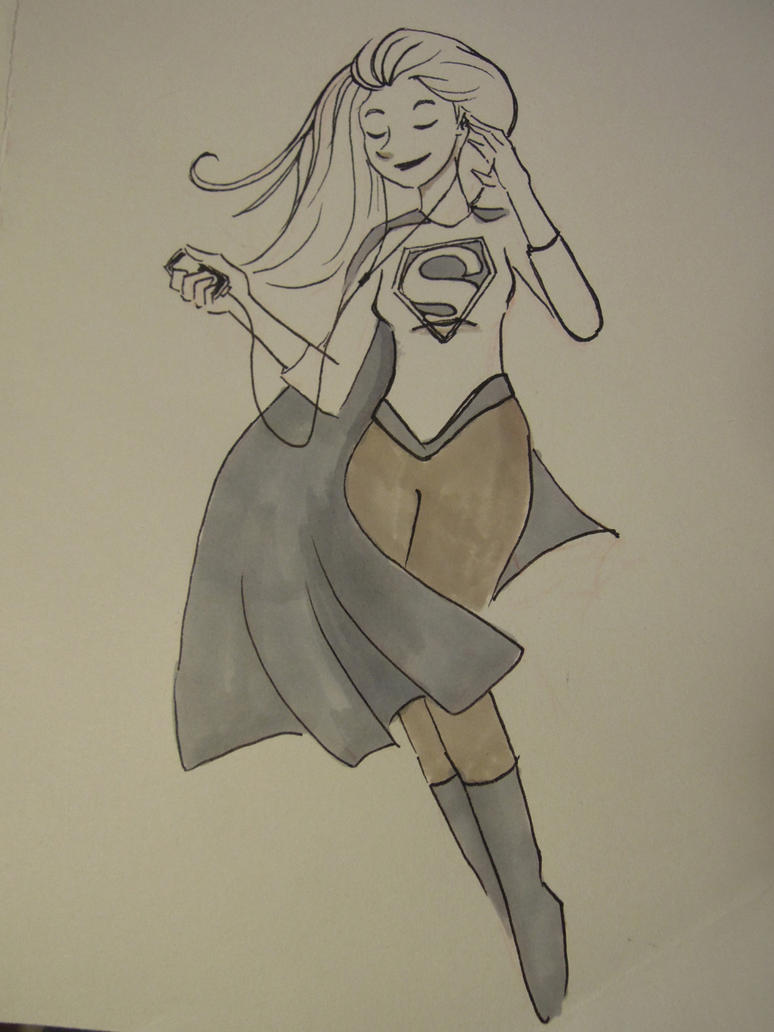 Inktober Day 23: Supergirl by IdaRahayu