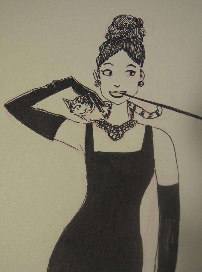 Inktober Day 24: Audrey Hepburn by IdaRahayu