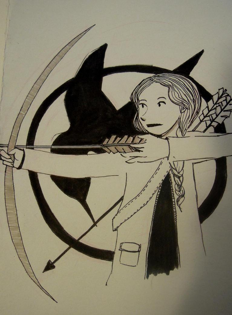 Inktober Day 26: Katniss Everdeen by IdaRahayu