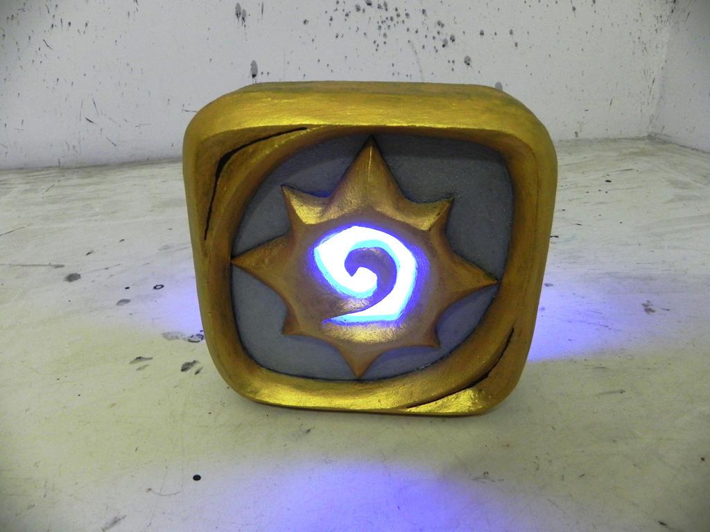 Hearthstone logo night lamp by TheGoblinFactory