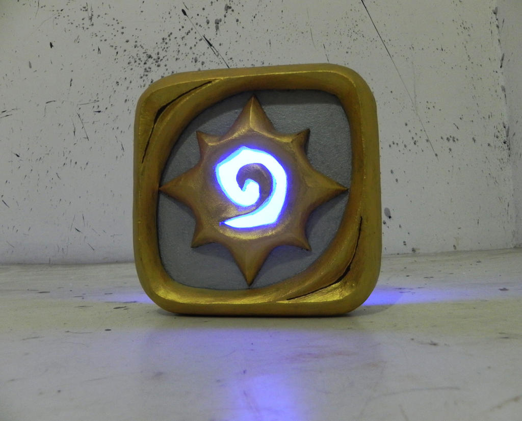 Hearthstone logo night lamp by TheGoblinFactory