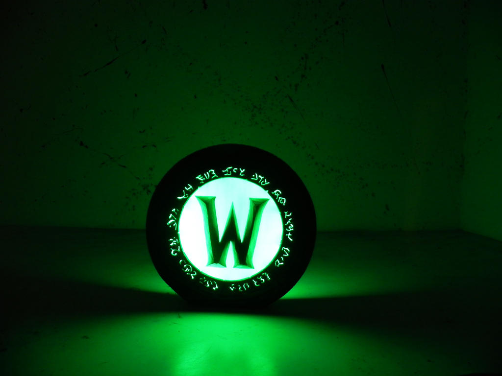 World of Warcraft logo night lamp by TheGoblinFactory