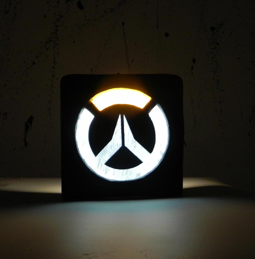 Overwatch logo night lamp by TheGoblinFactory