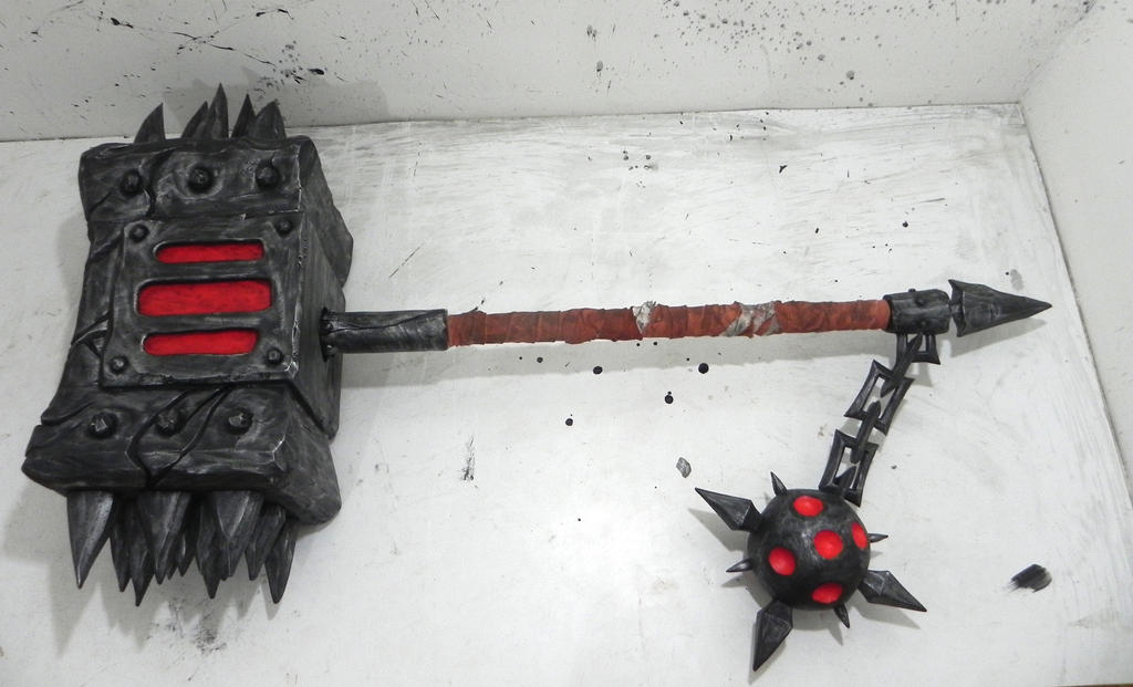 The Black Hand mace World of Warcraft by TheGoblinFactory