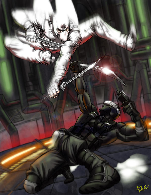 Snake Eyes vs Storm Shadow by ArtistAbe
