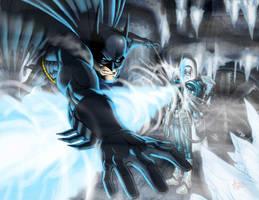 Batman vs Mr. Freeze by ArtistAbe