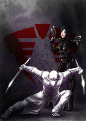 Baroness and Storm Shadow by ArtistAbe