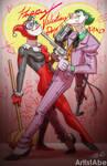 Harley Joker Happy Valentines Day