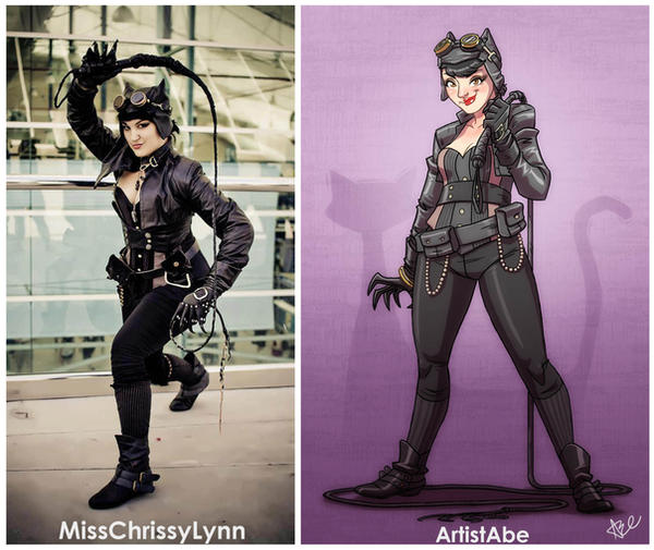 Chrissy Lynn Catwoman Cosplay by ArtistAbe