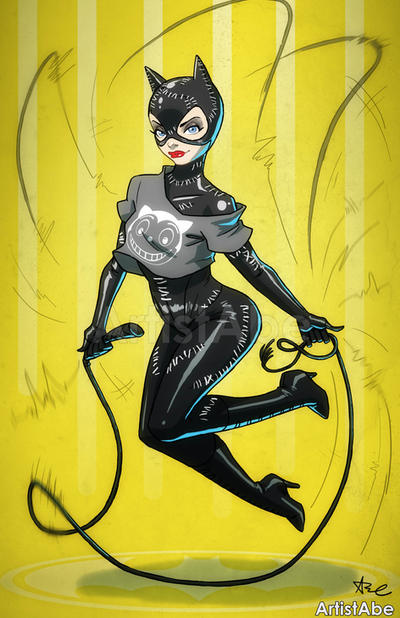 Catwoman Jump Rope by ArtistAbe
