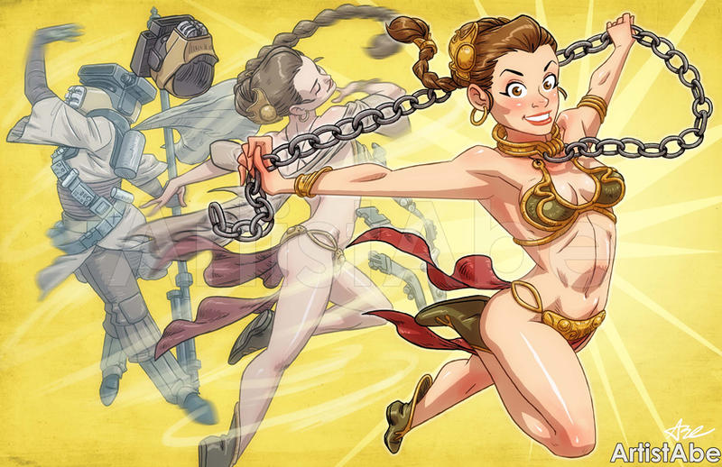 Slave Leia Transformation By ArtistAbe On DeviantArt